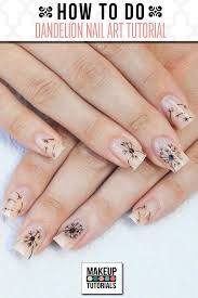 How to Do Dandelion Nails | Nail Art Tutorial