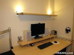 desk shelves ikea computer desk and monitor raiser with top shelf leaning  shelf desk ikea