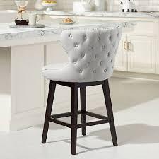 gray counter stools. Ariana Light Gray Fabric 25 1/2\ Counter Stools L