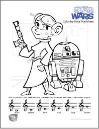 Coloring pages and sheets of pocoyo. Color By Note Music Theory Worksheets Makingmusicfun Net