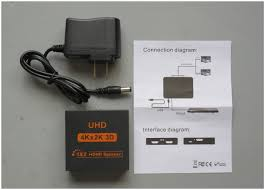 teardown tuesday a powered ultra high definition hdmi splitter news included the splitter is an ac dc power supply and simple connection instructions
