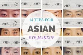 types of asian chinese eyes makeup tips