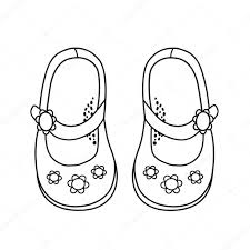 手描きの女の子のためのおしゃれな靴のイラスト ストックベクター