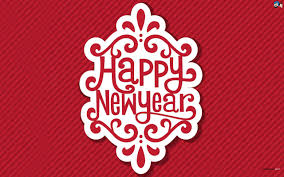 Happy New Year 2016 red background wallpaper