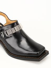 ikrix toga mules shoes square toe brushed leather mules