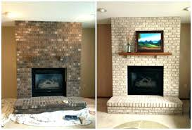 how to reface a brick fireplace cool brick fireplace renovation before and after refacing brick fireplace