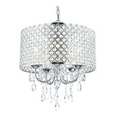beautiful black drum shade 3 light crystal chandelier lamp by