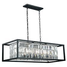 top 72 fab catana oil rubbed bronze eight light linear chandelier clarissa glass drop rectangular installation