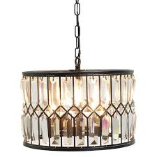 com hampton bay 5 light oil rubbed bronze crystal within with regard to bronze chandelier with crystals decorating
