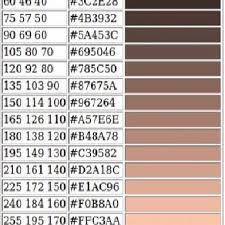 Skin Scope Color Chart Rgb Values For Different Human Skin Color Tones Download
