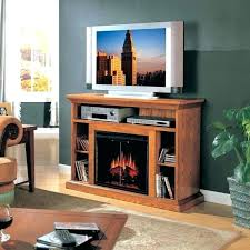 oak finish electric fireplace fireplaces entertainment finished bennett antique