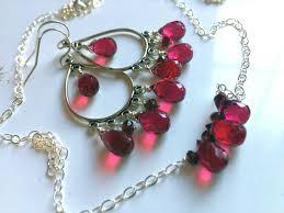 ruby slippers single stone chandelier earrings prev next