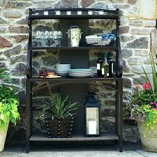 cool bakers rack ideas outdoor plans wood