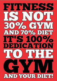 Diet Motivation Quotes Custom Fitness Is Not Half Gym And Full Diet Gym Motivational Quotes Poster