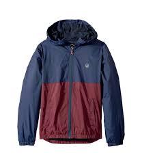 Volcom Big Boys Ermont Hooded Windbreaker Jacket Indigo M