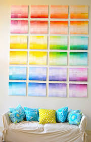 diy projects made with paint chips paint chip wall best creative crafts easy