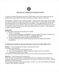 Critical Incident Report Template Accident Report Template