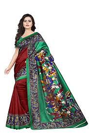 Buy Jaanvi fashion Silk <b>With Blouse</b> Piece (diwali saree collection ...