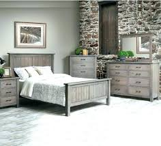 Distressed White Bedroom Set Bed Rustic Furniture Made In Pa Wood ...