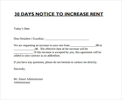 Sample Of Rent Increase Letter 9 Sample Rent Increase Letter Templates Pdf Word