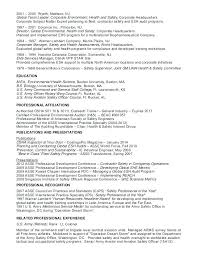 Certified Safety Professional Resume Safety Professional Resume