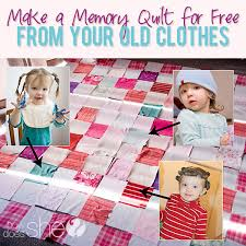 Make a Memory Quilt for Free from Your Old Clothes! &  Adamdwight.com