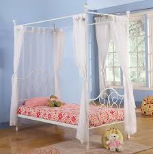 Make Your Own Canopy Mesmerizing Silver Iron Canopy Twin Size Princess Bed Frames With