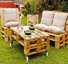 image of diy outdoor furniture made from pallets