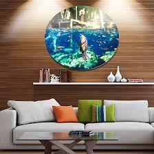 design art large fish in ik kil cenote mexico landscape wall art on metal wall on wall art large fish with design art large fish in ik kil cenote mexico landscape wall art on