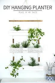 gutter hanging planter herb gardens bunnings hanging herb garden