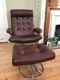 1970 s ekornes stressless recliner chair and ottoman