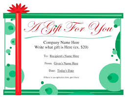 Word Gift Card Template Recent Posts Homemade Voucher Template Diy Christmas Gift Coupon