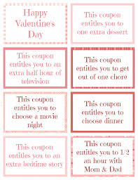 printable kid coupons printable valentine coupon book
