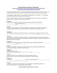 Objective Statement Resume Sample Resume
