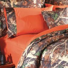 orange camo sheet sets
