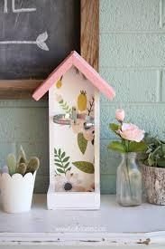 martinelli s glass bottle bird feeder