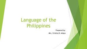 Philippine Languages Comparison Chart Language Of The Philippines Ppt