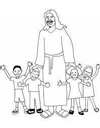 Stampa Disegno Di Gesù Con I Bambini Da Colorare