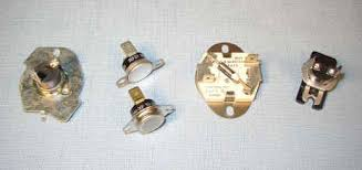 your dryer s thermal fuse what it is where to it how to here are several common dryer thermal fuses l to r they re whirlpool km two frigidaires older speed queen and ge hotpoint