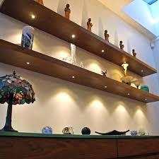 glass shelf lighting. Led Glass Shelf Lighting On Floating Shelves Black With Lights