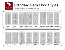 rusticroo designs standard barn door styles