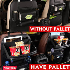 newteam top high grade leather multifunctional auto car back seat storage bag car seat cover