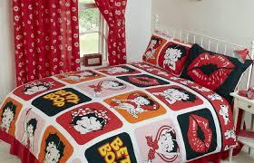 bathroom accessories medium size betty boop reversible bedding duvet quilt cover set polka red lips range
