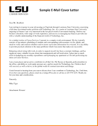 8 Email Cover Letter Example Precis Format