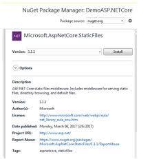 Serve Static files in ASP.NET Core Using Visual Studio 2017 ...