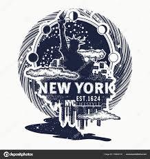 нью йорк тату футболку дизайн большой город нью йорк Skyline