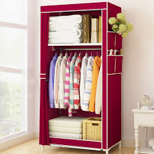 clothes storage cabinet. Plain Cabinet Minimalist Cloth Wardrobe Student Dormitory Single Small Fabric  Folding Clothing Storage Cabinet Home Furniture Closet For Clothes