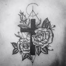 Tetování Růže A Křížek Tetování Tattoo