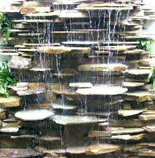 outdoor waterfall fountain water wall features attractive gardener for 3 rock fountains diy