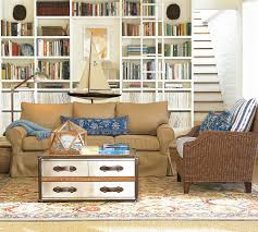 Pottery Barn Living Room Colors Eva Persian Beige Sofa And Shelves